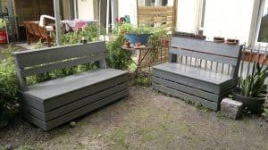 garden tool storage bench