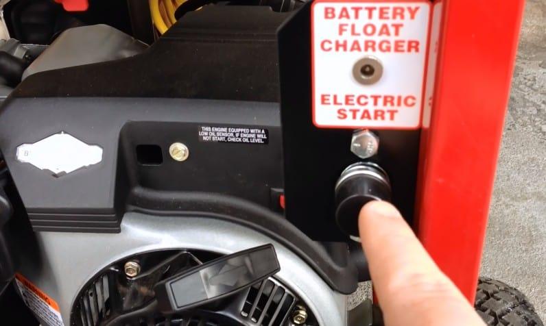 Starting a generator