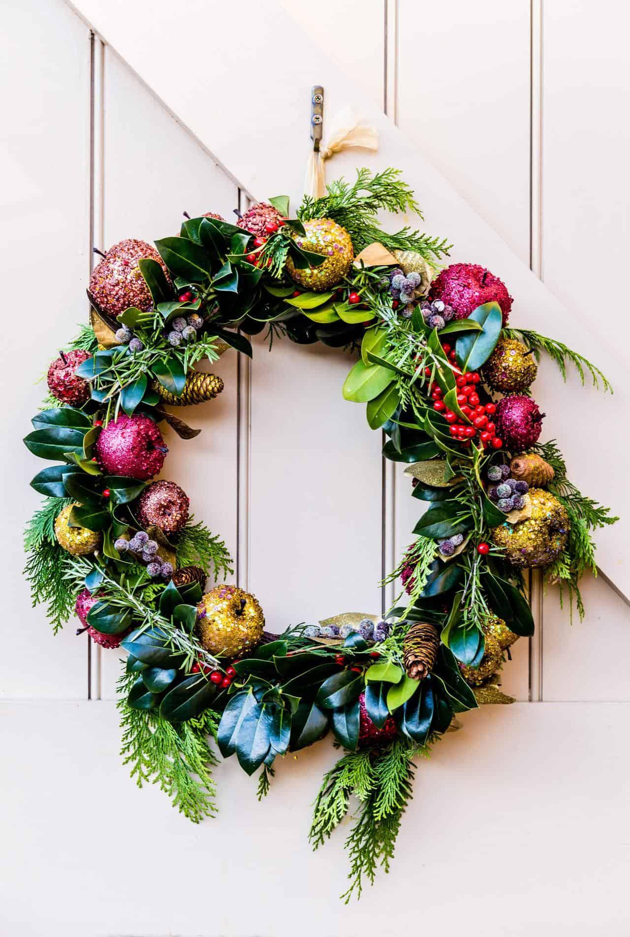 Christmas spirit on your door