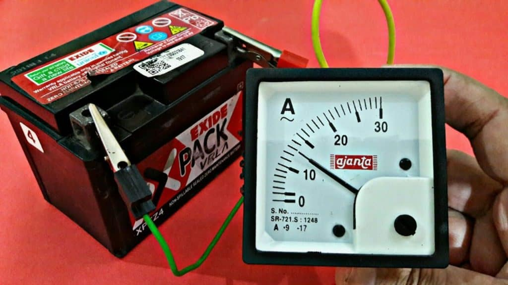 how to read a battery charger amp meter